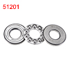 Silver Tone 51201 12mm x 28mm x 11mm Magnetic Axial Thrust Ball Bearing