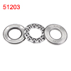 Auto 35mm x 18mm x 12mm Carbon Steel Axial Thrust Ball Bearing 51203