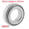 35mm x 62.5mm x 18.5mm 32007 Metal Single Row Tapered Roller Bearing Silver Tone