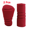2pcs Zipper Car Gear Shift Knob Handbrake Cover Sleeve Red