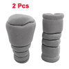 Car Truck Gray Zip up Gear Shift Knob Hand Brake Cover Sleeve Protector 2 Pcs