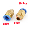 10 Pcs 9x8mm Male Thread Quick Coupler Joint Air Pneumatic Connector