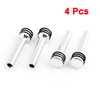 4 Pcs Silve Tone Aluminum Alloy Car Door Lock Knob Cover Spare Part