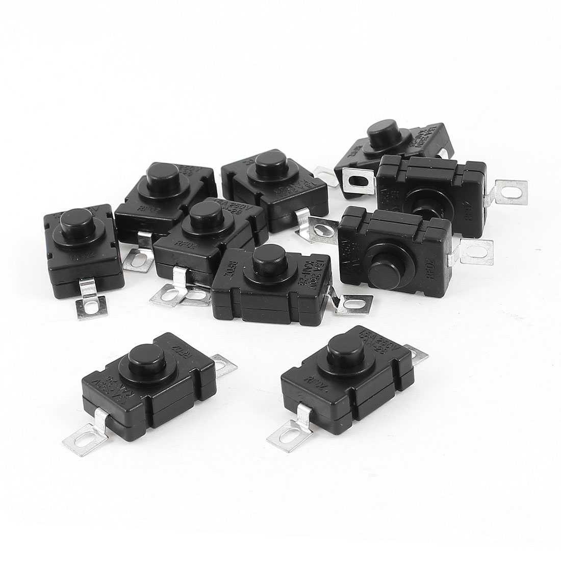 10 Pcs 1.5A 250VAC Push Button Self Latching Tact Switch 18x12x10mm