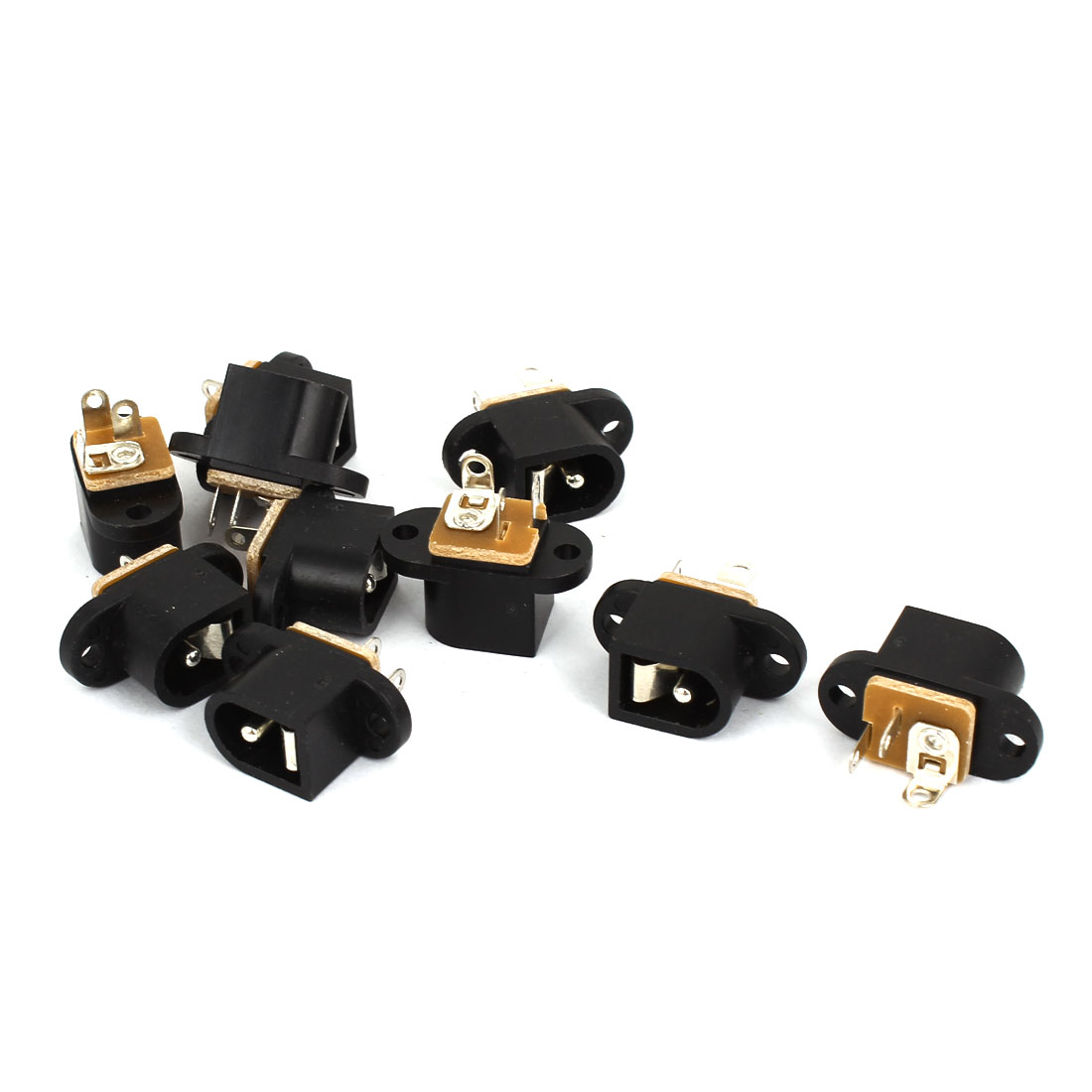 10 Pcs 5.5mm x 2.1mm 3 Terminals Female DC Socket Jack PCB Charger Power Plug DC-016