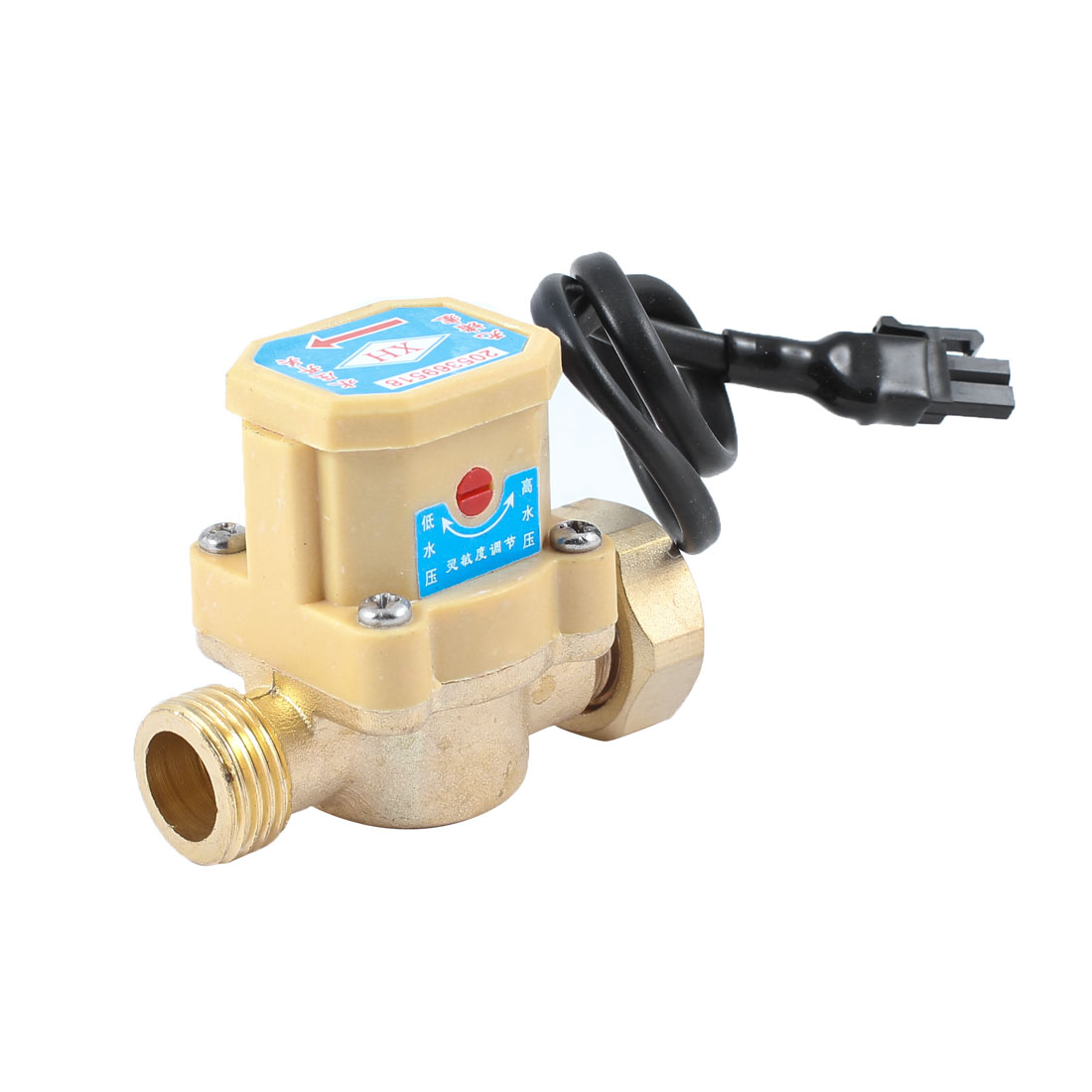 "21mm 1/2"" PT Male Thread 90W Pump Flow Sensor Liquid Switch for Water System"