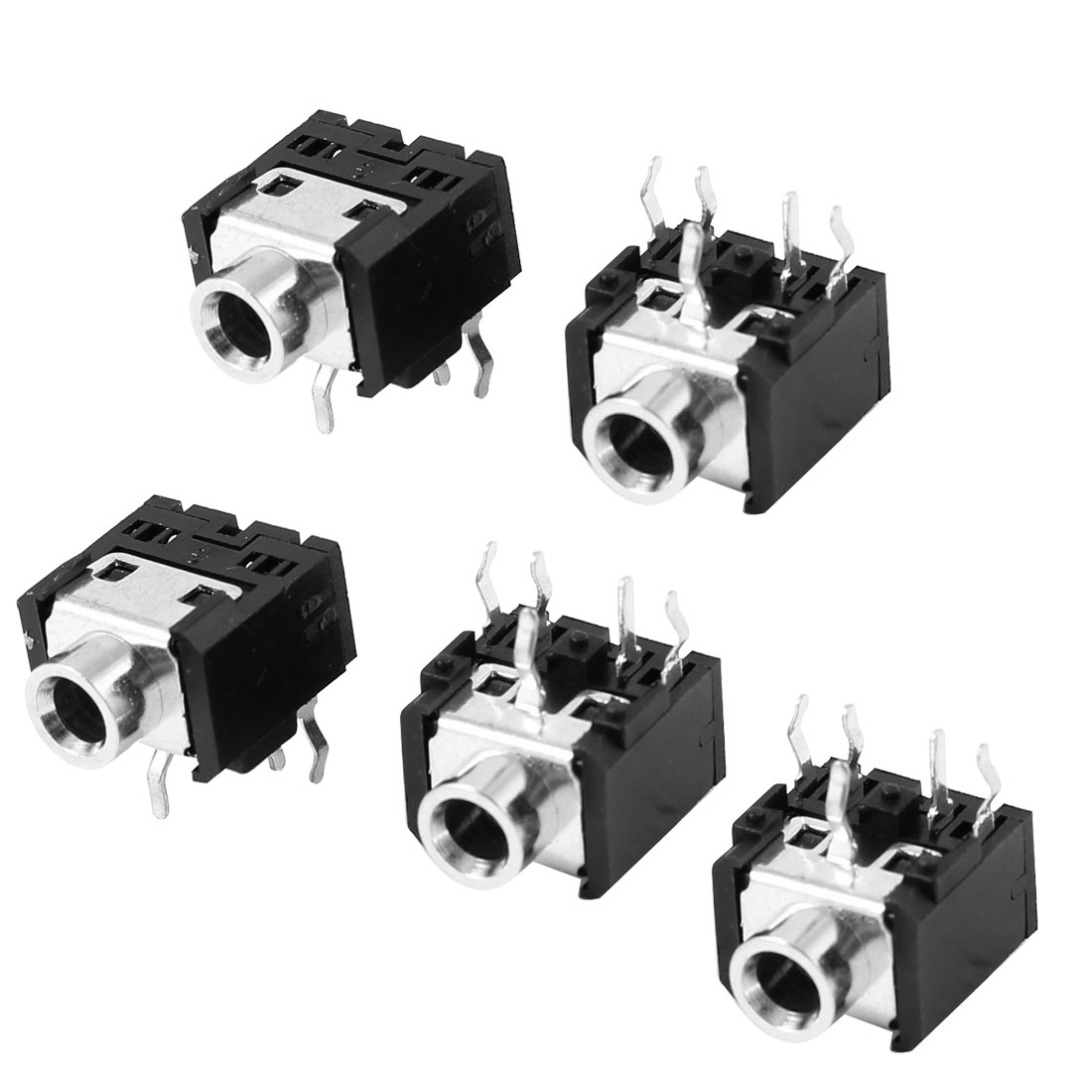 5 Pcs Black 5 Pin 3.5mm x 1.3mm DC SMD Power Jack Socket PCB Mount Connector DC031A