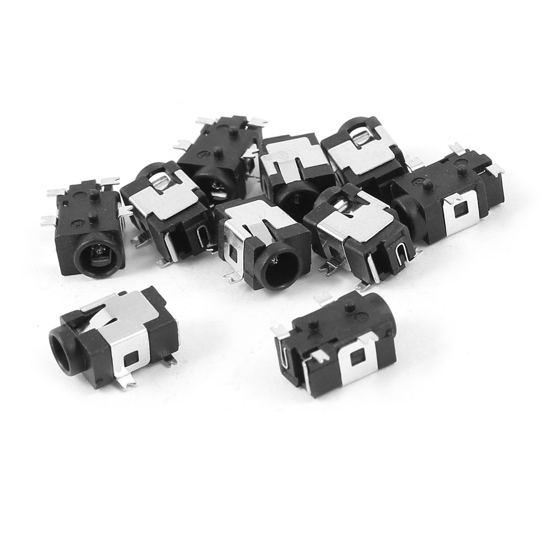 10 Pcs Black 4 Pin SMD 3.5mm DC Power Jack Socket PCB Mount Connector
