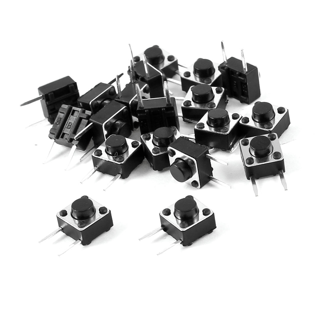 20 x DIP Through Hole Mount Momentary Push Button Tact Switch 6x6x5mm
