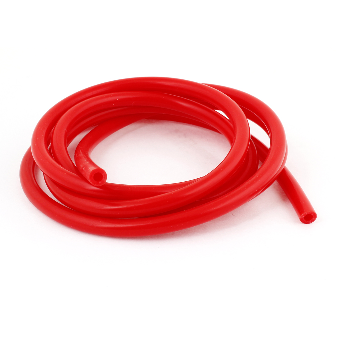 2M Long 4mm Inner Dia 8mm OD Red Silicone Vehicle Car Vacuum Hose Tubing Pipe