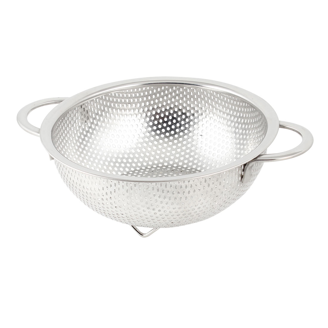 20cm Diameter Silver Tone Stainless Steel Fruit Basket