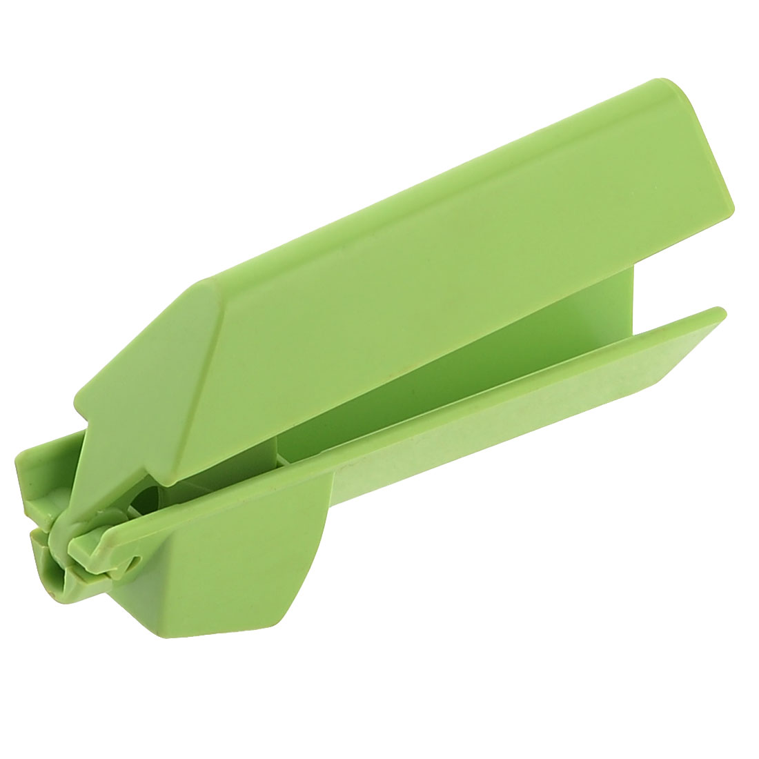 Green Plastic Handgrip Hand Press Container Onion Garlic Cutter Tool