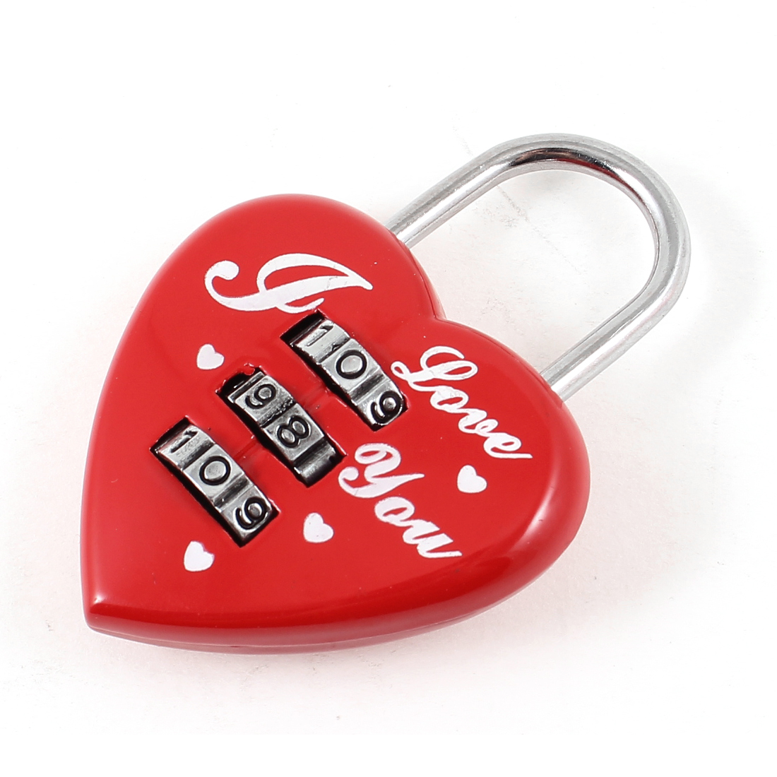 Red Letter Print 3 Digit 0-9 Number Resettable Combination Password Lock