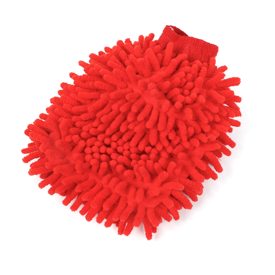 Car Washing Cleaner Wash Double Side Microfiber Mitt Glove Red