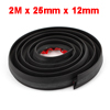 Car Black Rubber Self Adhesive Back P Shaped Sealed Strip 2M x 25mm x 12mm