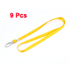 Industry Company Metal Clip Badge Card Name Pouch Hanging Neck Strap Yellow 9pcs