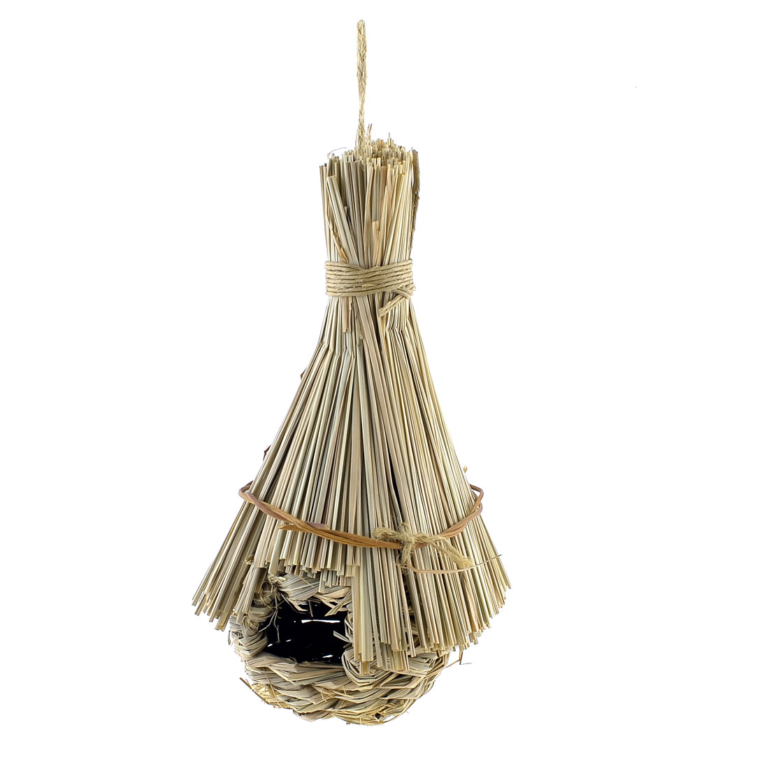 Straw Braided Hole Opening Bird Living Home House Nest Artificial Cage