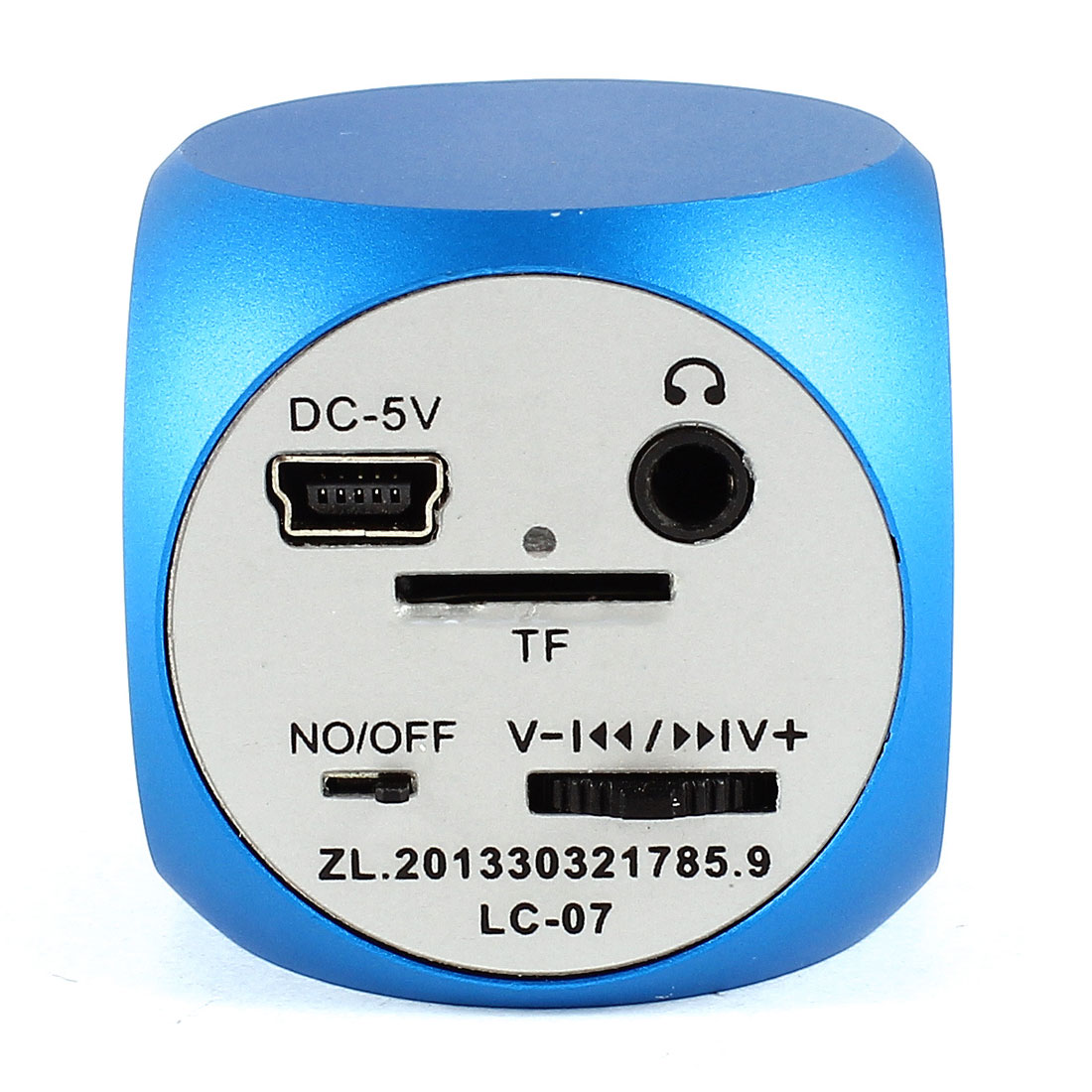 Portable Micro SD TF Card Dice Design Mini Speaker MP3 Player FM Radio Blue