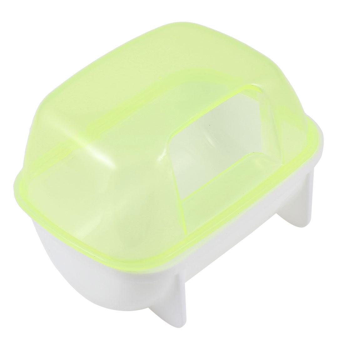 Plastic Small Animal Sand Room Pet Hamster Bathing Bathroom Light Yellow 10x7x7cm