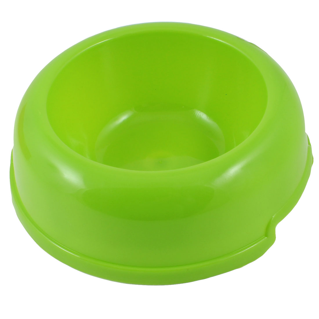 Green Plastic Round Design Pet Cat Dog Doggy Food Water Bowl Dish