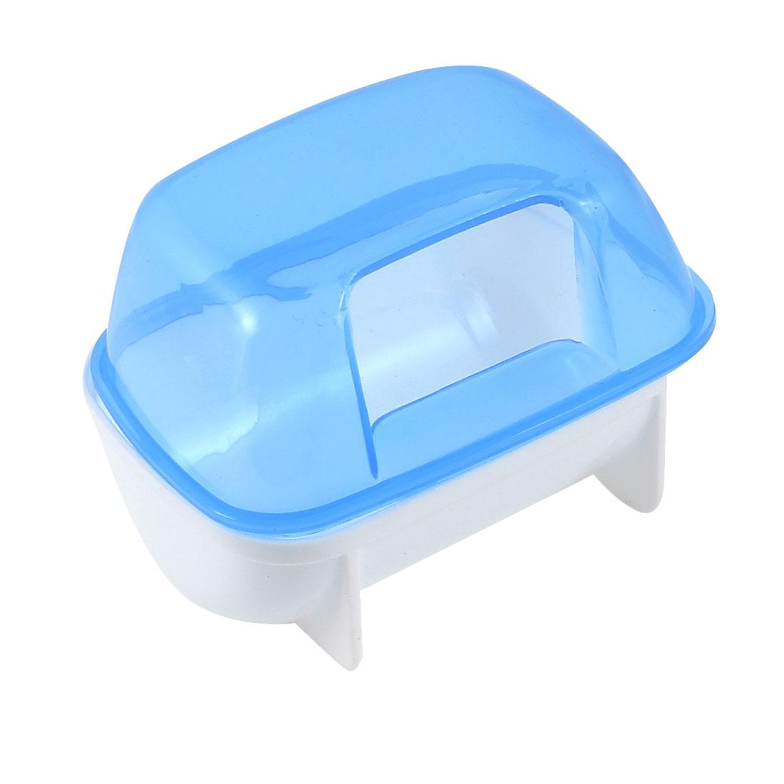 "Pet Hamster Bathroom Bath Sand Room Sauna Toilet Blue White 3.9"" x 2.8"" x 2.8"""