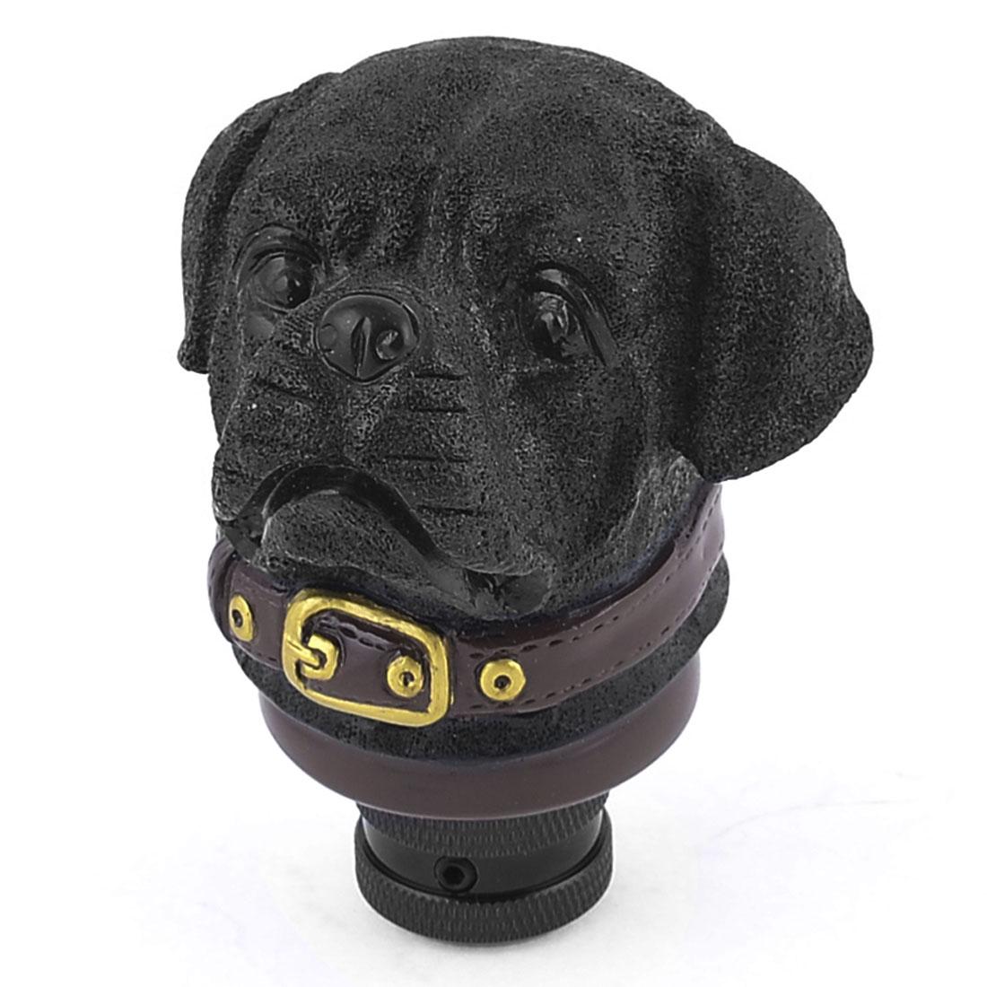 Stone Dog Shape Stick Shifter Gear Shift Knob Black for Car