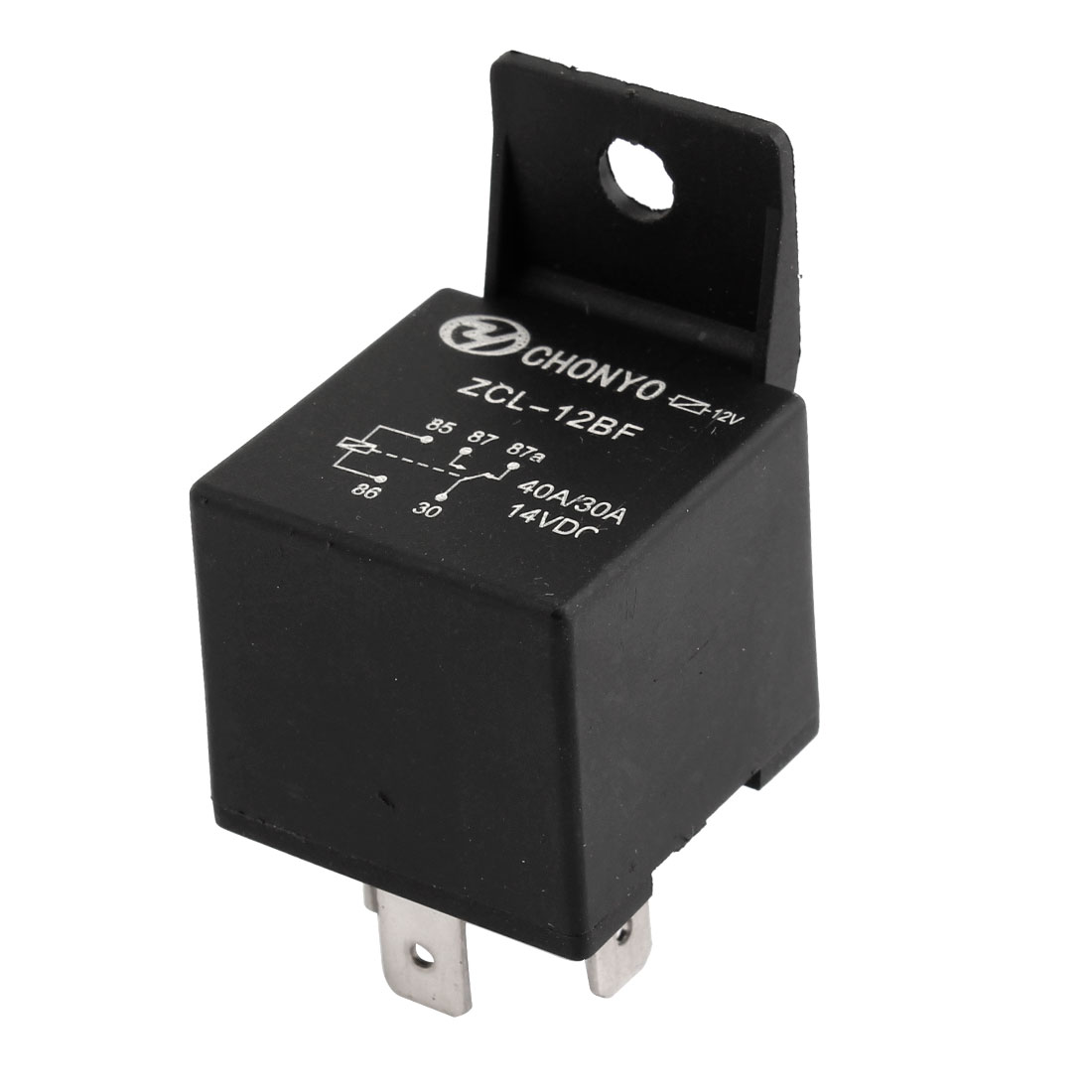 Car Spare Part DC 14V 30A/40A 4 Terminal NO SPDT Relay Black
