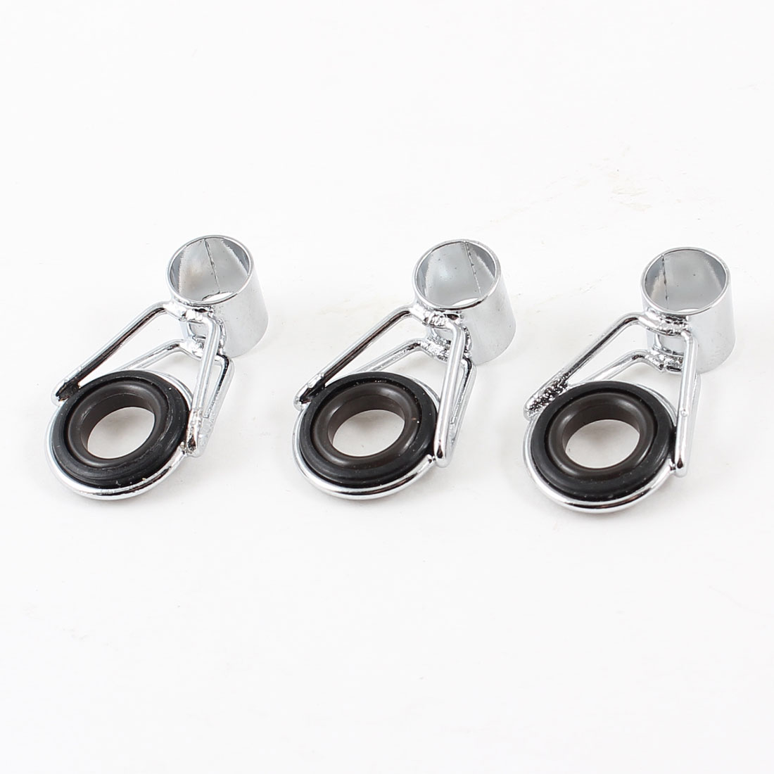 "3Pcs 0.28"" Dia Fishing Rod Guide Tip Ring Eye Repair Spare Kit"