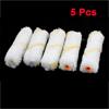 "5 Pcs 4.3x1.2"" Yellow Stripes White Plush Floor Paint Roller Brushes"