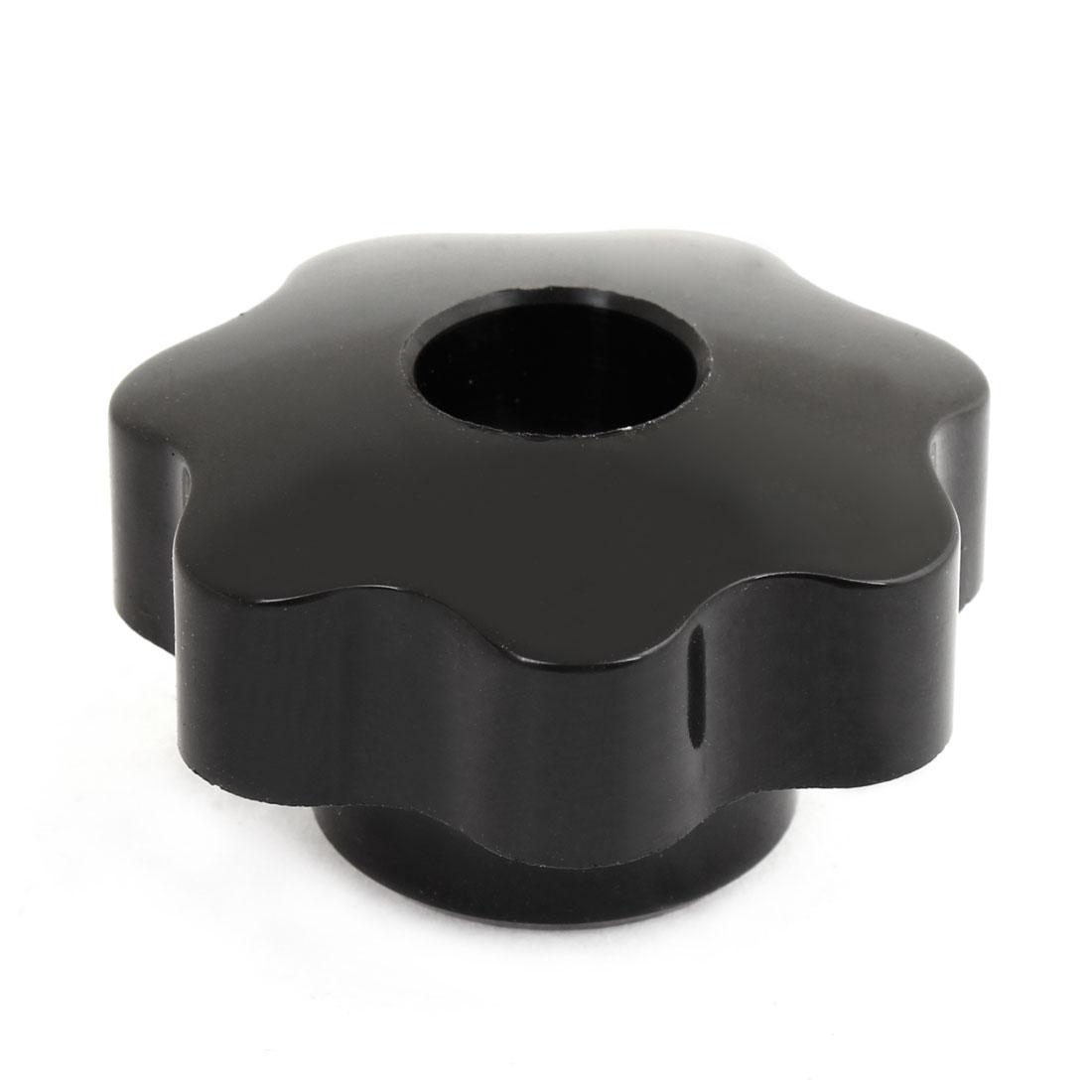 8mm Female Thread Black Plastic 50mm Diameter Star Clamping Screw Knob