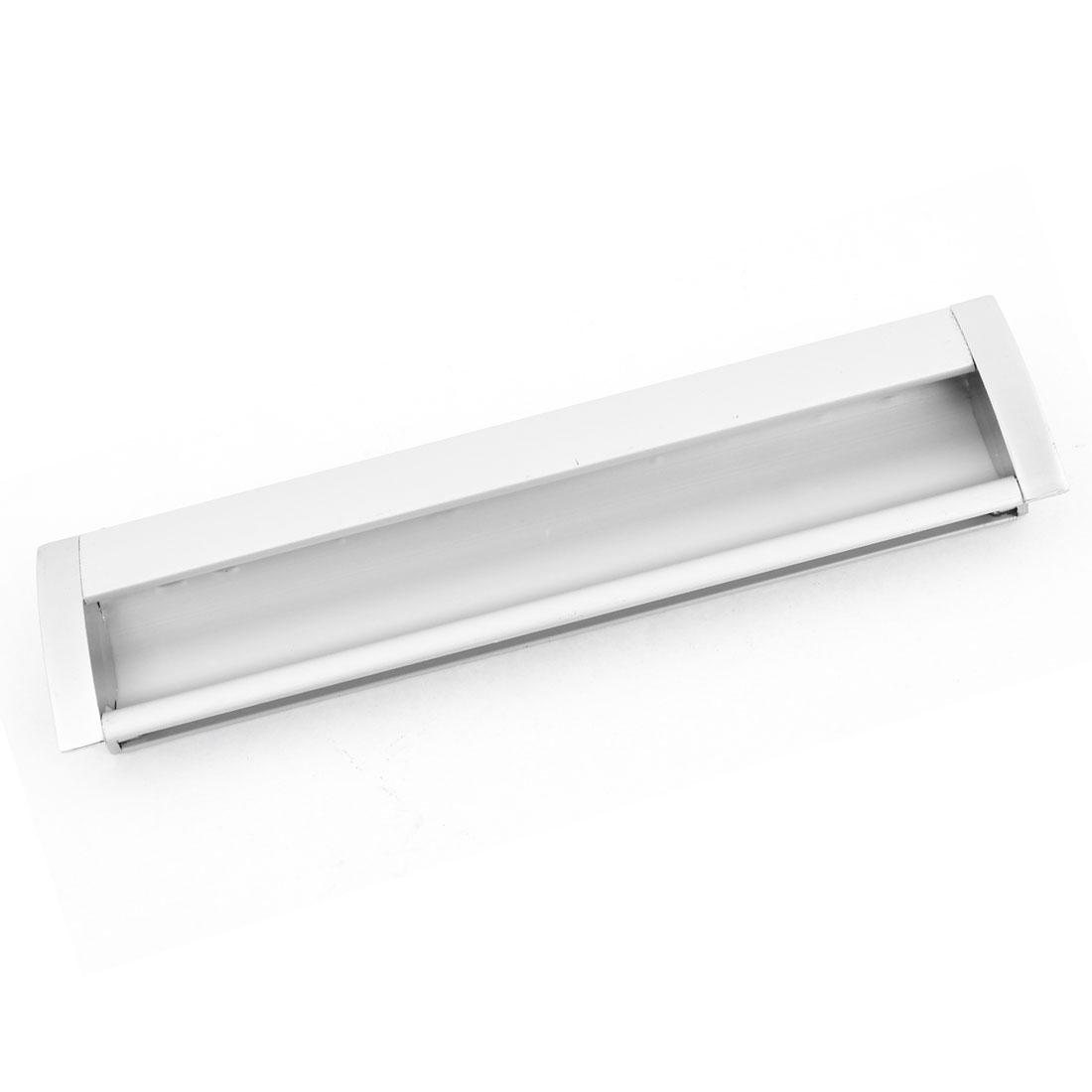 Cabinet Hardware Parts Silver Tone Aluminum Flush Pull Handle 170mm Length