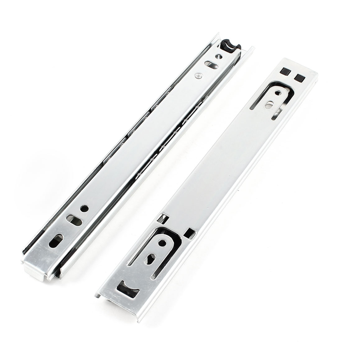 "2 Pcs 8"" Long 2 Sections Ball Bearing Telescopic Cabinet Drawer Slide"
