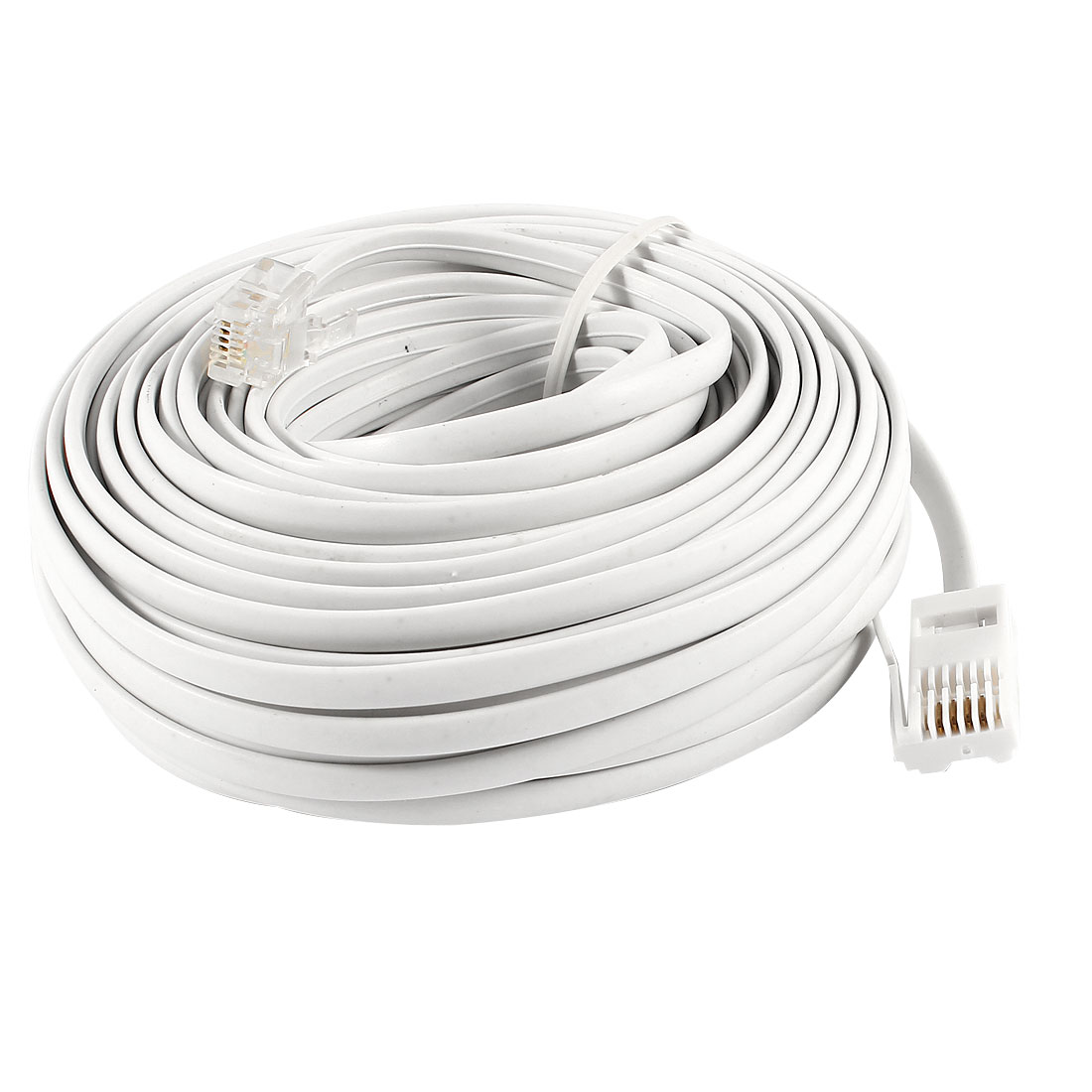 15M 49ft RJ11 to UK BT 6P4C M/M Modular Telephone Phone Cables White