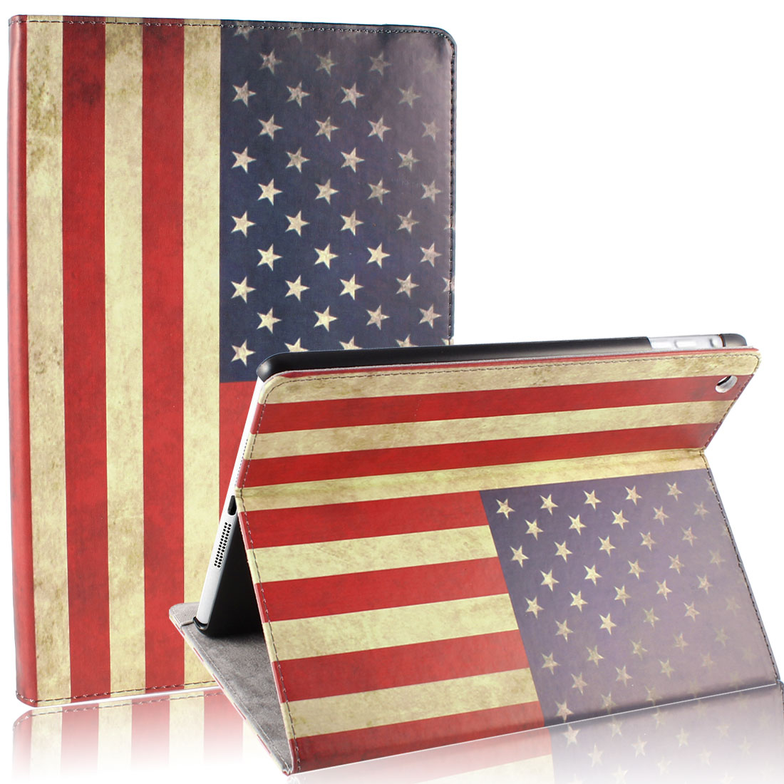 US Flag Smart Wake/Sleep PU Leather Case Cover for iPad Air 5 5th Gen