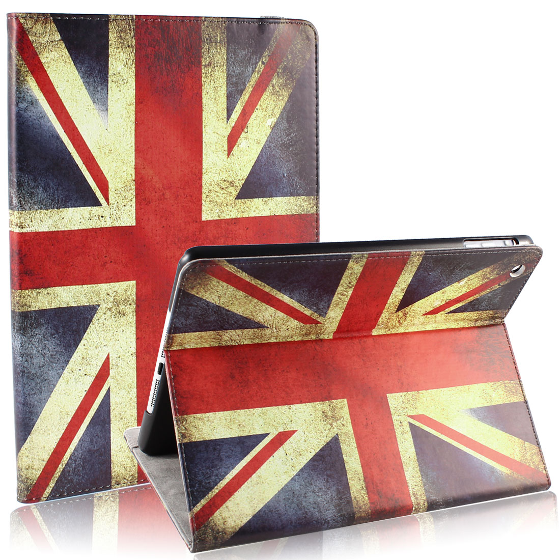 UK Flag PU Leather Smart Wake/Sleep Stand Case for Apple iPad Air 5 5th Gen
