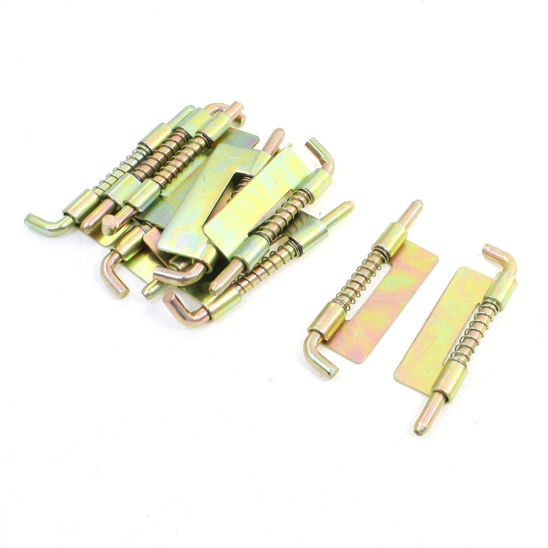 10 Pcs Locked Spring Loaded Metal Security Barrel Bolt Latch 7.5cm