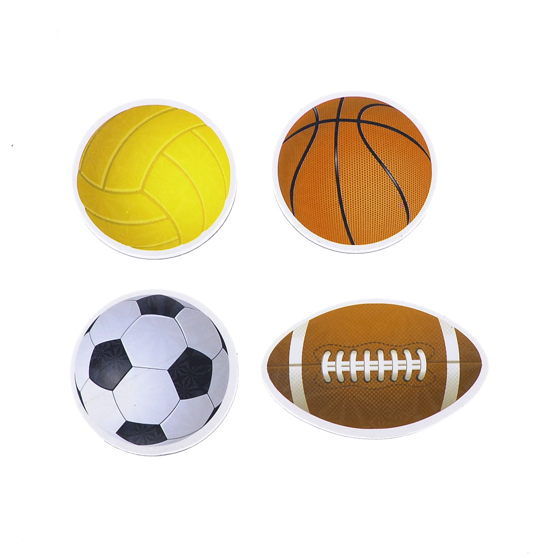 Refrigerator Football Basketball Ball Magnetic Sticker Set 4 in 1