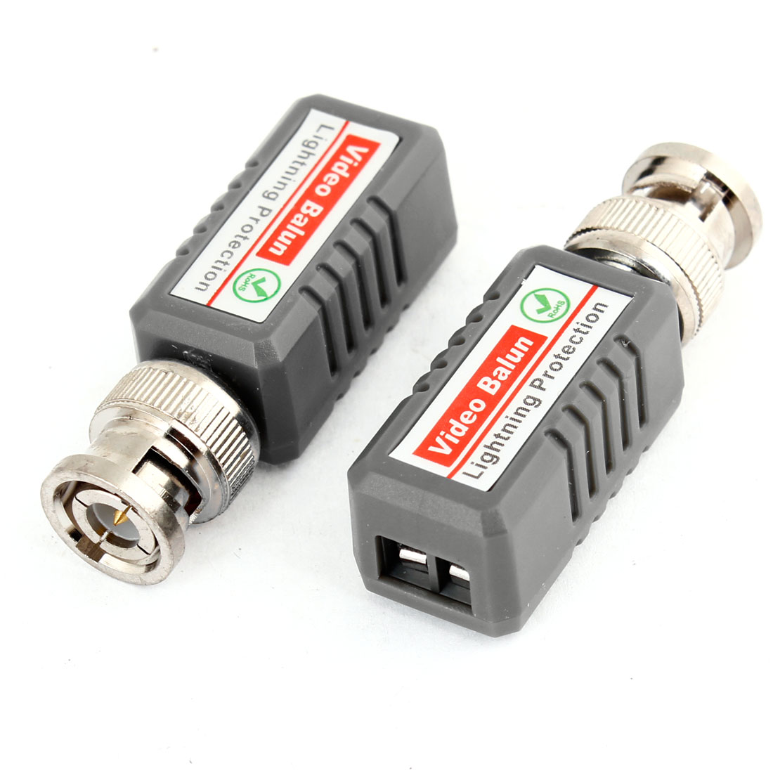 2 Pcs CCTV BNC Coaxial One Channel Passive Video Balun Transceiver