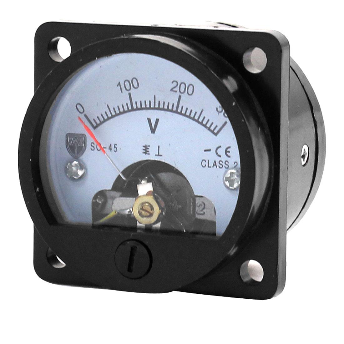 DC 0-300V Direct Current Voltage Panel Meter Voltmeter Black
