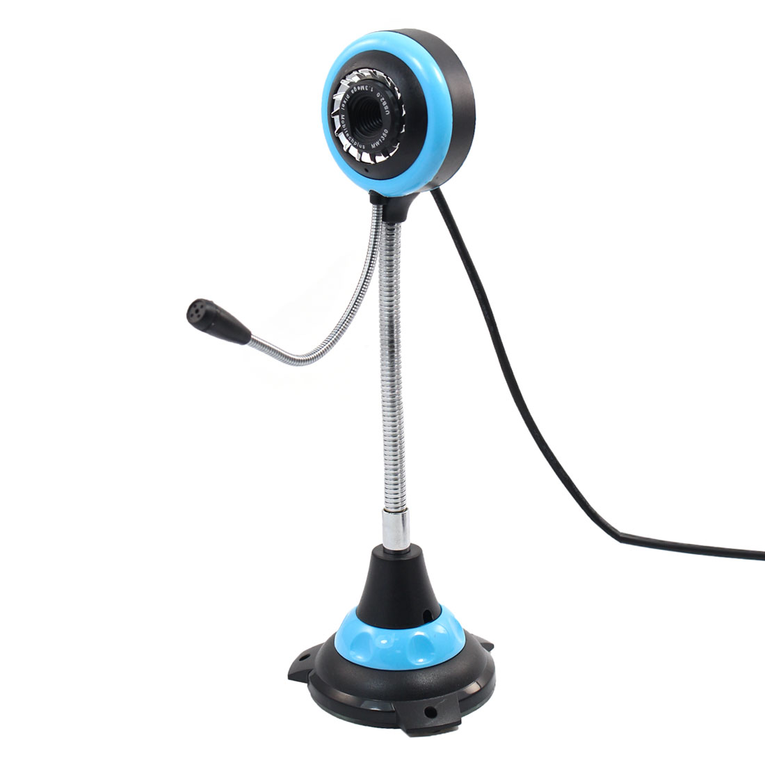 Tennis Ball Design PC Web Camera Black Sky Blue w 3.5mm Microphone