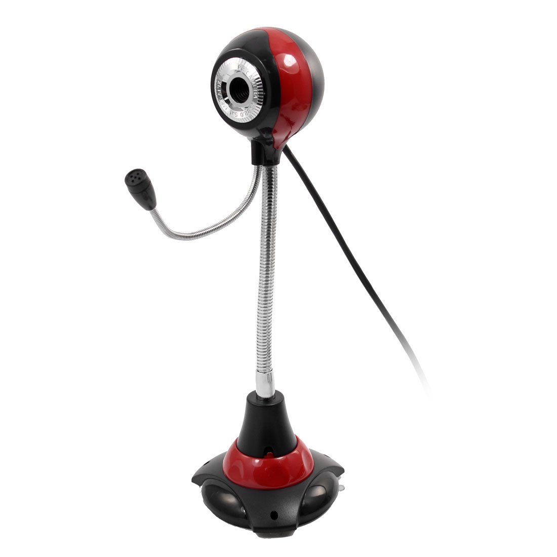 Tennis Ball Design PC Web Camera Black Red w 3.5mm Microphone