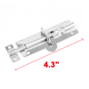Stainless Steel Door Lock Latch Slide Barrel Bolt Clasp Set 11cm Long