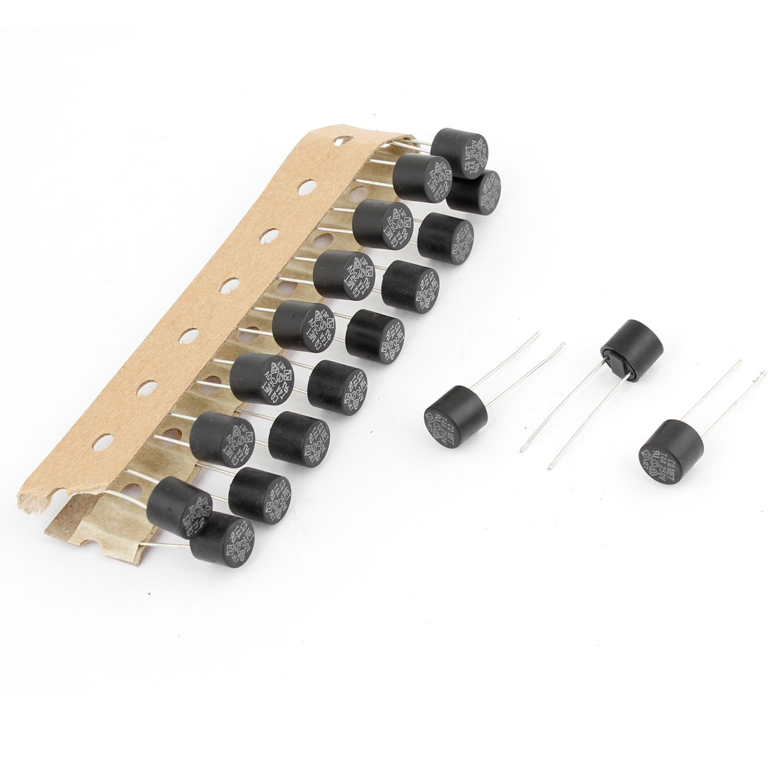 20Pcs 250V 4A DIP Mounted Slow Blow Miniature Micro Fuses 8x8mm