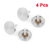 4 Pcs 20mm Dia Round Screw Cap Tea Table Mirror Nails Silver Tone