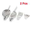 Stainless Steel Silver Tone Crescent Shape Glass Window Casement Sash Lock Pair