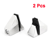 2pcs Silver Tone Metal 15mm Thickness Glass Board Clip Clamp Support