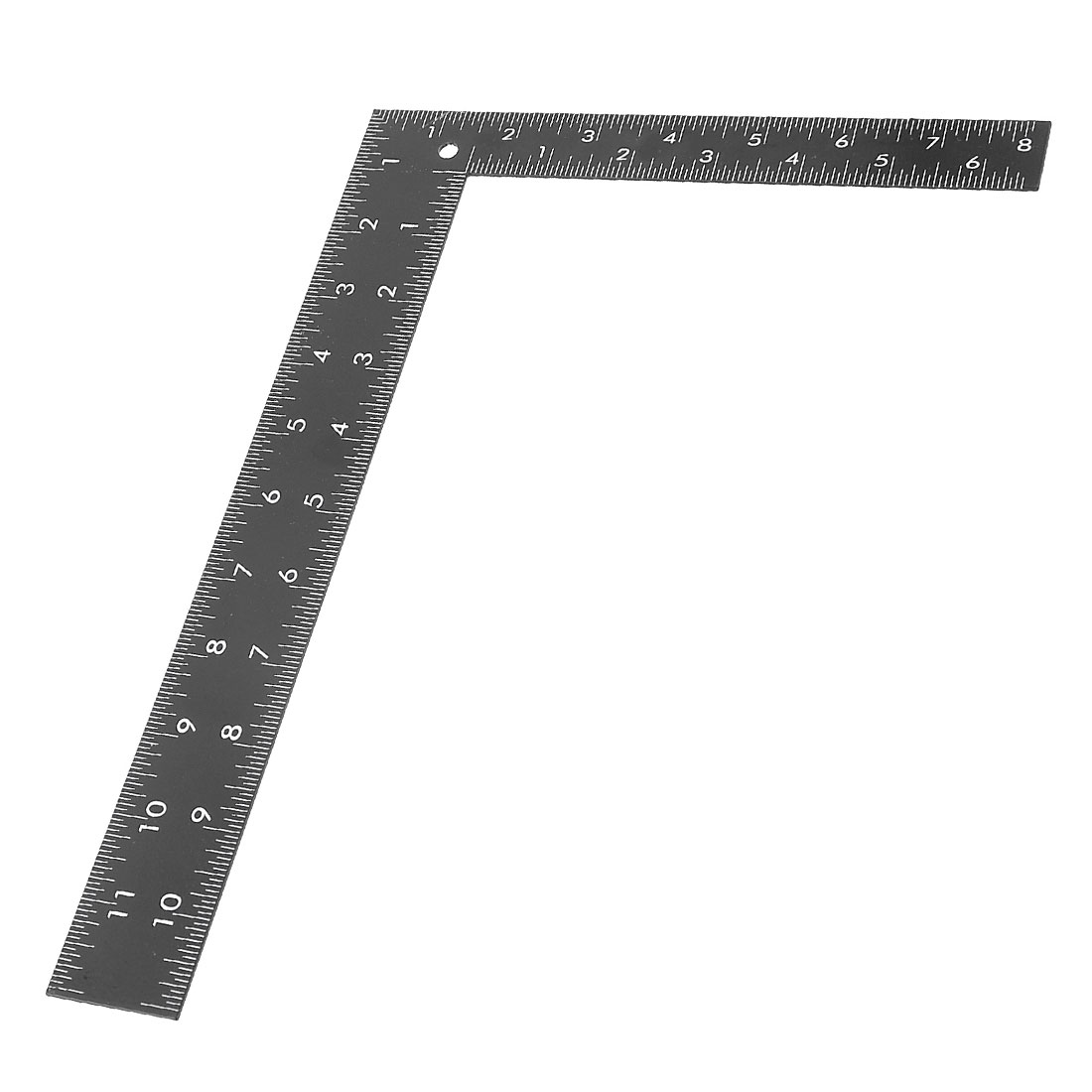 Woodwork Double Side 90 Degree Angle 0-30cm 0-20cm Scale Square Ruler