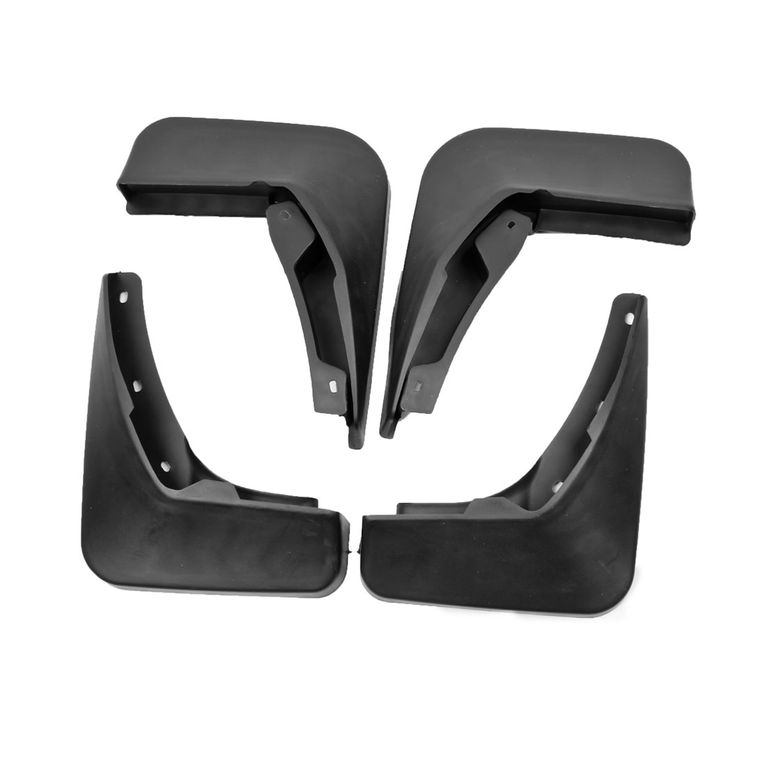 Black Splash Guards Front Rear Mud Flaps Protectors Set for Audi A6L 2012