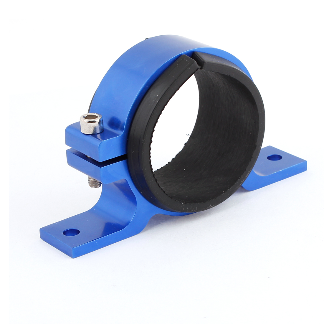 60mm Single Fuel Pump Bracket Aluminium Filter Clamp Cradle Blue