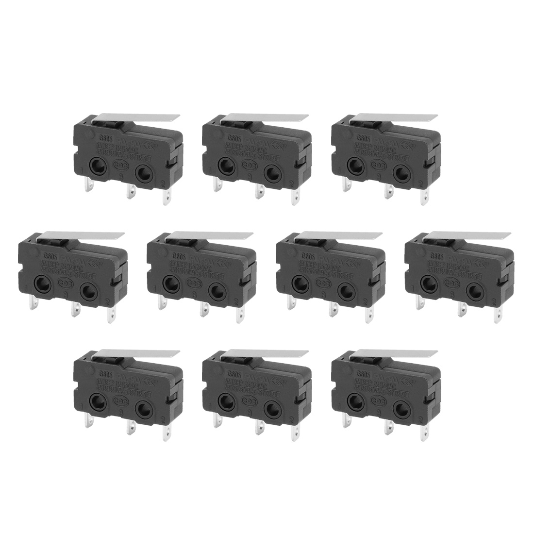10Pcs G606-150S03A Short Hinge Lever 1 NO 1NC SPDT Momentary Micro Switch
